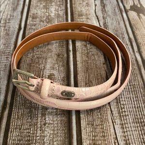3/$20 Ralph Lauren pink snake skin belt